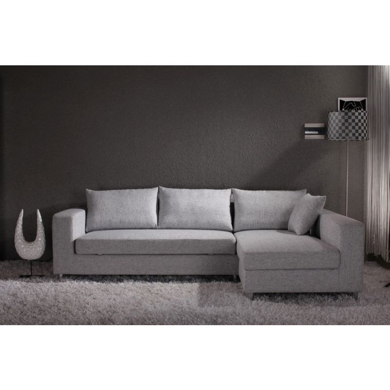 Fabric Sofa Bed W Storage Chaise Lounge In Grey Buy Sofa