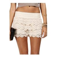 Vintage Floral Layered Lace Shorts