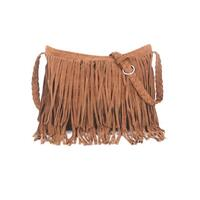 Vintage Hippie Boho Fringed Shoulder Bag