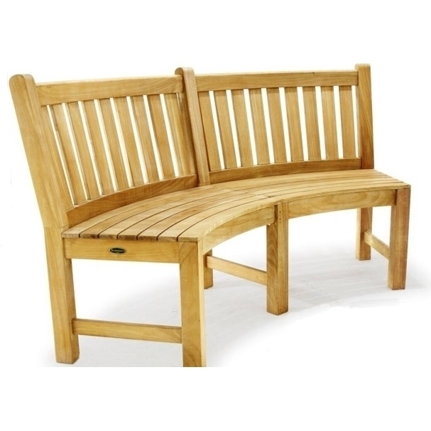 Outdoor Teak Curved Wooden Garden Bench Chair 132cm Buy Outdoor Benches