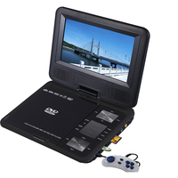 "Portable Multi-Format LED DVD Player w/ 9"" Monitor"