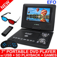 7 inch Portable LED DVD Player with Game Control