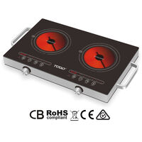 Portable Electric Double Infrared Hotplate 2000W