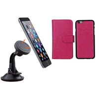 iPhone 6 Pink Magnetic Case w/ Suction Car Holder