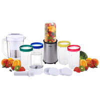 21 Piece Smoothie Food Processor Blender Kit Silver