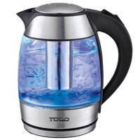 Cordless LED Filter Infuser Glass Kettle Black 1.8L