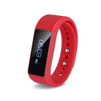 2016 Fitness Band Activity Track w/ SMS Alert Red