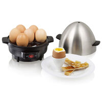 Egg Cooker 7 Cell Egg Tray Aluminium Pot 350W