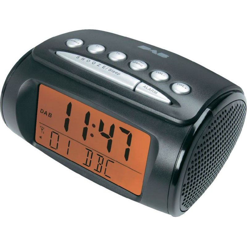 dab digital radio stereo dual alarm clock radio buy more. Black Bedroom Furniture Sets. Home Design Ideas