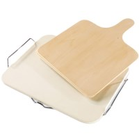 Dr. Oetker Ceramic Pizza Bakestone with Paddle
