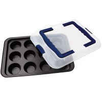 Dr. Oetker Bake & Go Muffin Pan with Carry Lid