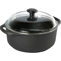 Skeppshult Cast Iron 5.0L Casserole with Glass Lid