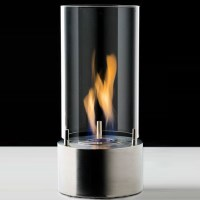 Table Top Bio Ethanol Fireplace Glass Tube Style
