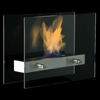 Table Top Bio Ethanol Fireplace Glass Panel Style