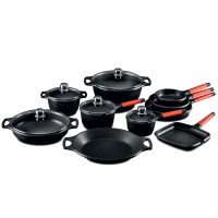 Fundix 15 Piece Long Handle Aluminium Cookware Set