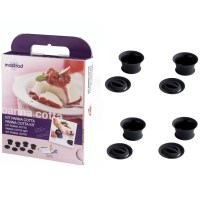 Mastrad Baking Gift Set with 4 Panna Cotta Moulds