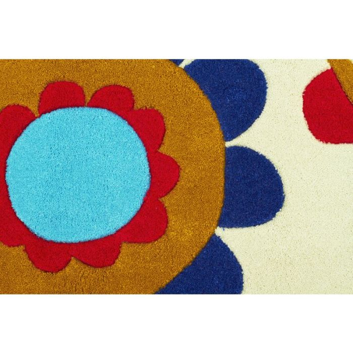 Bright Poppies Rug Light Mint 165x115cm Buy Kids Rugs
