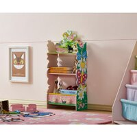 Kids Fairy Garden Themed Storage Bookcase Bookshelf