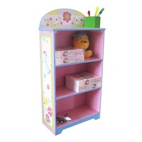 Kids Pink Flower Themed Storage Bookcase Bookshelf