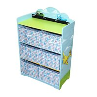 Kid's Aeroplane Toy & Shoe Storage Cube Cabinet