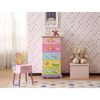 Kids Butterfly Garden Storage Chest of 5 Drawers