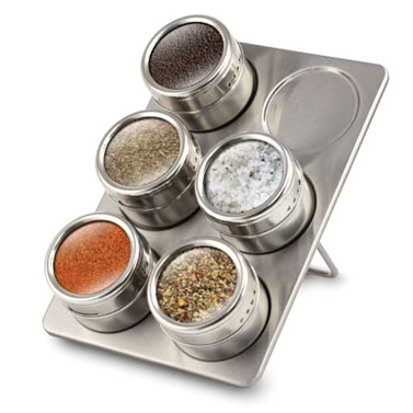Stylish 6 Piece Magnetic Spice Rack Buy Specialty
