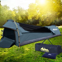 Biker Camping Swag with Air Pillow Single Navy