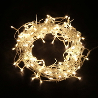 800 Icicle LED Christmas Lights in Warm White