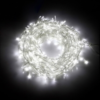 800 Bright Icicle LED Christmas Lights in White