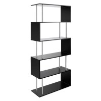 5 Tier Bookcase Display & Storage Shelf Unit  Black