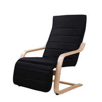 Birch Bentwood Lounge Arm Chair Black