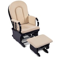 Breastfeeding Rocking Glider Chair w/ Ottoman Black