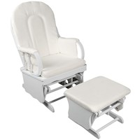 Breast Feeding Gliding Nursing Chair with Ottoman