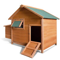 Small Backyard Chicken Coop Hen House w Nesting Box