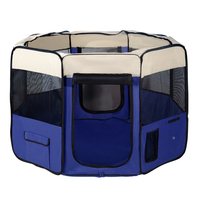 X-Large Portable Indoor Pet Exercise Playpen Blue