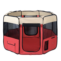 X-Large Portable Pet Indoor Exercise Playpen Red
