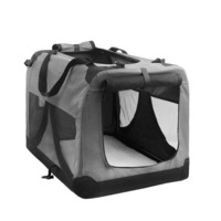 XL Travel Dog Cat Pet Soft Crate Carrier in Grey