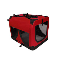 XXXL Travel Cat Dog Pet Soft Crate Carrier in Red