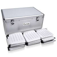 Aluminium 500 Capacity CD/DVD Storage Case