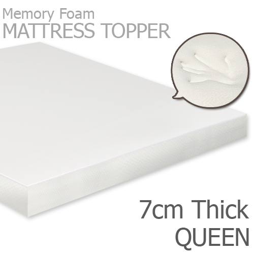 Memory Foam Queen Mattress Topper 7cm Thick