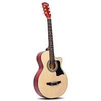 Wooden Acoustic Guitar Natural 38 Inch