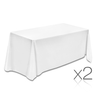 Wedding Table Cloth Rectangle 244cm White x2