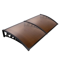 DIY Window Door Awning Cover 100x200cm (Brown)