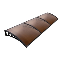 DIY Window Door Awning Cover 100x300cm (Brown)