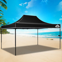 3M X 4.5M Pop-Up Garden Outdoor Gazebo Black