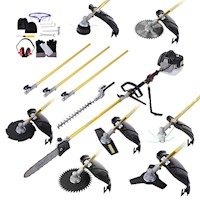 9 In 1 Petrol Pole Pruner Hedge Trim WhipSnip 65cc