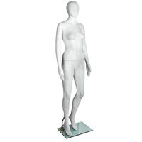 Full Body Female Mannequin Egg Head 175cm White