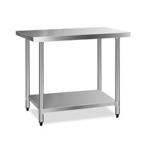 430 Grade Stainless Steel Kitchen Bench 1219x610mm