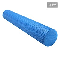 Yoga Gym Pilates EVA Hex Foam Roller Blue 90x15cm