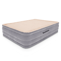 Queen Inflatable Mattress with Electric Pump Grey